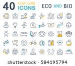 set  line icons in flat design... | Shutterstock . vector #584195794