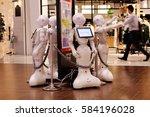 A Softbank Pepper Robot Offers...