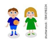 children vector illustration   Shutterstock .eps vector #584198224