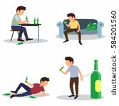 alcoholism risks  danger from... | Shutterstock .eps vector #584201560