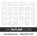 large icons set  600 outline... | Shutterstock .eps vector #584201749