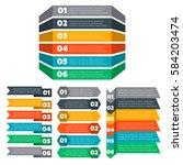 infographics elements. six steps | Shutterstock .eps vector #584203474