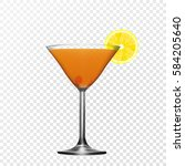 vector realistic glass martinka.... | Shutterstock .eps vector #584205640