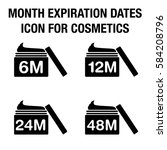 month expiration dates icon for ... | Shutterstock .eps vector #584208796