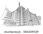 vector sketch of state industry ... | Shutterstock .eps vector #584209339