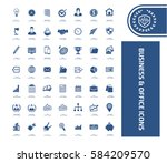 business and office icon set... | Shutterstock .eps vector #584209570