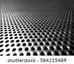 Holes Of Grey Metal Plate With...