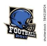 american football  emblem ...   Shutterstock .eps vector #584218924