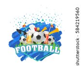 football poster event info... | Shutterstock .eps vector #584219560
