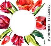 Wildflower Tulip Flower Frame...