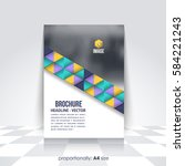 a4 flyer document and vector... | Shutterstock .eps vector #584221243