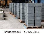 concrete blocks on wooden...