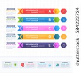 colorful infographics shapes... | Shutterstock .eps vector #584222734
