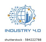 industry 4.0 concept business... | Shutterstock .eps vector #584222788
