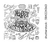 saint patrick's day traditional ...   Shutterstock .eps vector #584224363