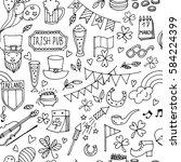 st.patrick 's day . seamless... | Shutterstock .eps vector #584224399