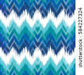 Colorful chevron ornament tradition stylish ornament Zig zag ikat seamless pattern | Shutterstock vector #584227324