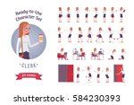 ready to use character set.... | Shutterstock .eps vector #584230393