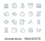 banking and finance set of icons | Shutterstock .eps vector #584235370