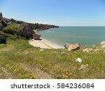 seashore landscape. bay of sea...   Shutterstock . vector #584236084