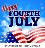 happy fourth of july... | Shutterstock .eps vector #584239516