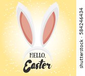 hello easter. holiday greeting... | Shutterstock .eps vector #584246434
