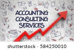 accounting consulting services  ... | Shutterstock . vector #584250010