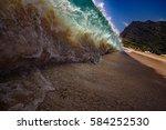 shorebreak ocean wave in a...   Shutterstock . vector #584252530