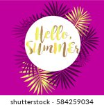 summer 2017 in circle with... | Shutterstock .eps vector #584259034