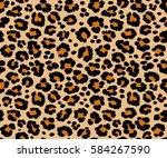 leopard pattern texture... | Shutterstock .eps vector #584267590