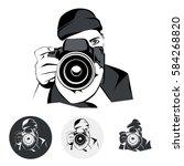 stylized photographer  design... | Shutterstock .eps vector #584268820
