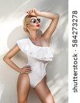 portrait beautiful phenomenal... | Shutterstock . vector #584273278