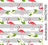 illustration seamless pattern... | Shutterstock . vector #584274700