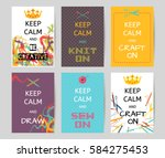 colorful motivation poster with ... | Shutterstock .eps vector #584275453