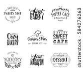badge set for small businesses  ... | Shutterstock .eps vector #584276263