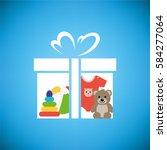Toy Box  With Teddy Bear ...