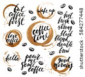 hand drawn ink lettering with... | Shutterstock .eps vector #584277448