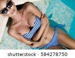 portrait beautiful phenomenal... | Shutterstock . vector #584278750