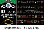 53 pack icons   car dashboard ...   Shutterstock .eps vector #584281783