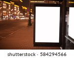 blank billboard with copy space ... | Shutterstock . vector #584294566