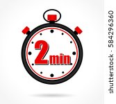 illustration of two minutes... | Shutterstock .eps vector #584296360