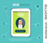 online medical consultation...   Shutterstock .eps vector #584297758
