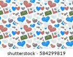 raster illustration. seamless... | Shutterstock . vector #584299819