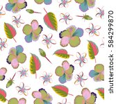 seamless pattern of multicolor... | Shutterstock . vector #584299870
