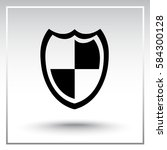 protection sign icon  vector... | Shutterstock .eps vector #584300128