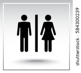 male and female sign icon ... | Shutterstock .eps vector #584300239