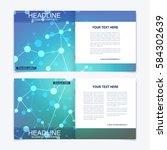 templates for square brochure.... | Shutterstock .eps vector #584302639