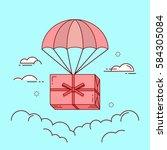 line flat design colorful... | Shutterstock .eps vector #584305084