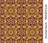 gold circles seamless pattern.... | Shutterstock . vector #584305126