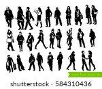 vector set of people... | Shutterstock .eps vector #584310436